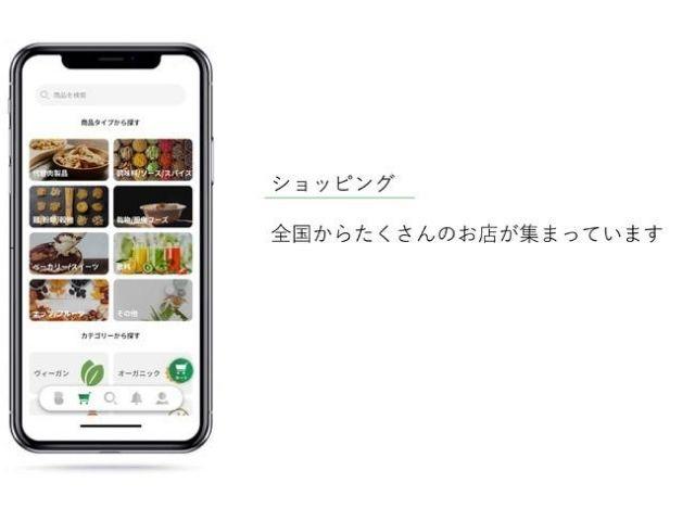 ヴィーガン飲食店クチコミアプリ「Bene」に、ショッピング機能が新たに追加