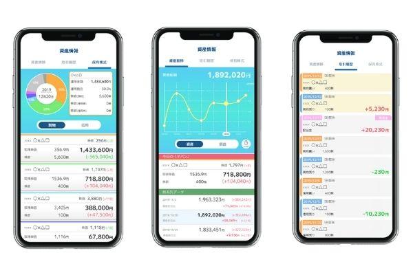 株式売買管理アプリ『株iew (カビュウ)』の機能