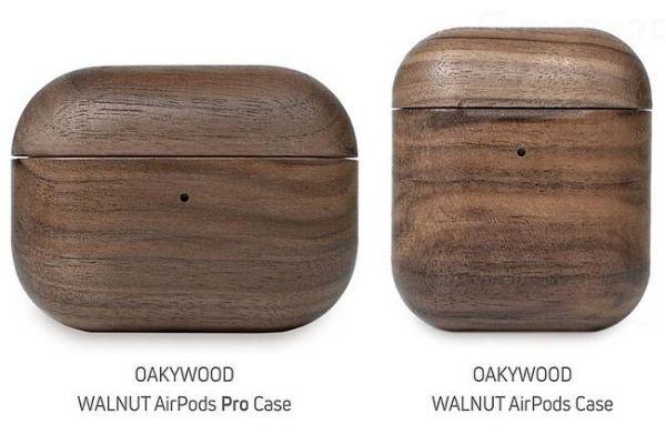 「OAKYWOOD WALNUT AirPods Case」2タイプ