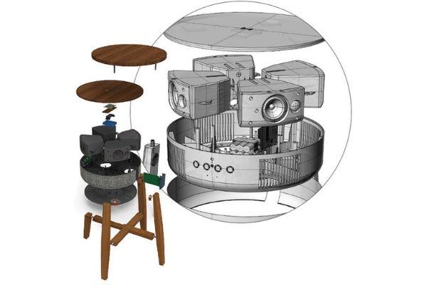 有線無線対応 360°スピーカー&バッテリー機能搭載 スマートテーブルZ9 スピーカー