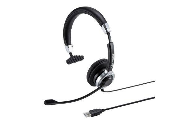 アクティブノイズキャンセリングマイク付きUSBヘッドセット 片耳タイプ