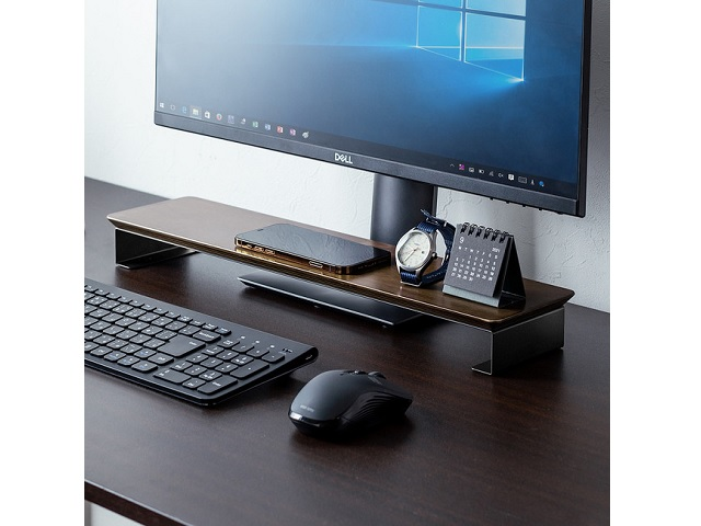 パソコンモニター下を小物置きスペースに活用できる収納スタンドが9月15日新発売