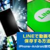LINE活用術!LINEでの動画保存方法。【iPhone,Android】