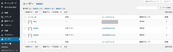 wordpress 権限